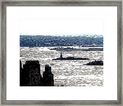 Framed Print featuring the photograph The Harbor by Anne Raczkowski