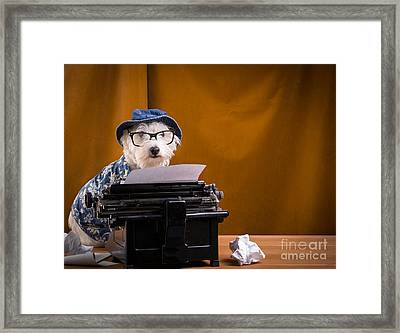 The Hard Boiled Journalist Framed Print by Edward Fielding