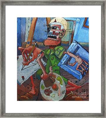 The Harlequin Artist Framed Print