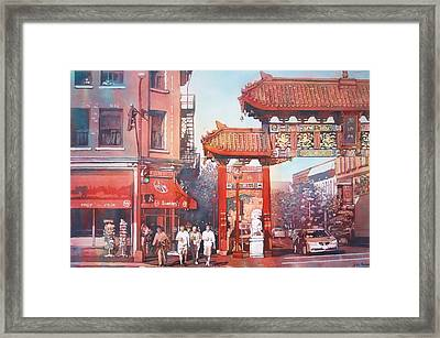 The Harmony Gate Framed Print by Leslie Redhead