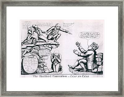 The Hartford Convention. Political Framed Print by Everett