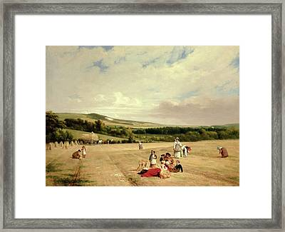 The Harvest Field Framed Print by William Frederick Witherington