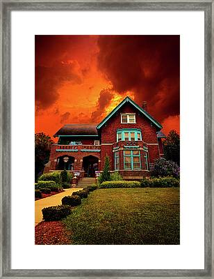 The Haunted Brumder Mansion Framed Print by Phil Koch