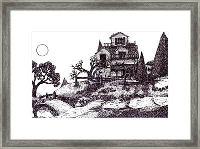 The Haunted House Framed Print by Joella Reeder