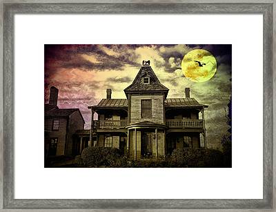 The Haunted Mansion Framed Print by Bill Cannon