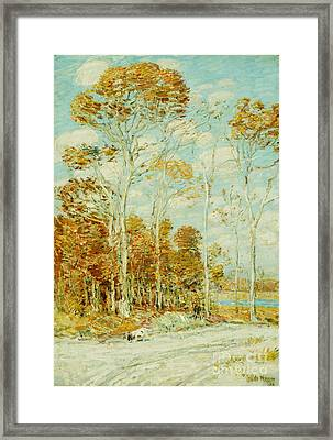 The Hawk's Nest Framed Print by Childe Hassam
