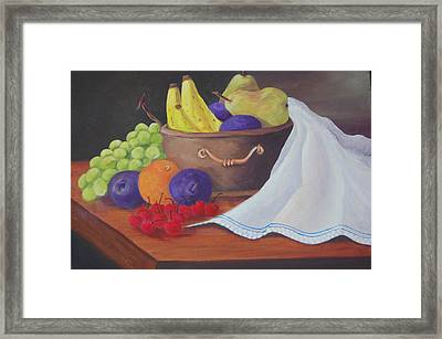 The Healthy Fruit Bowl Framed Print by Janna Columbus