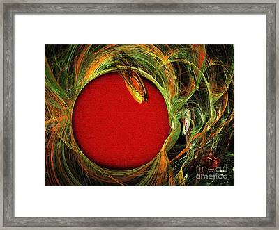 The Heart Of A Snake Framed Print by Andee Design