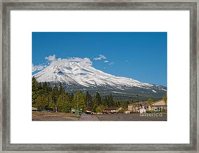 The Heart Of Mount Shasta Framed Print