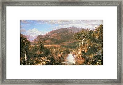 The Heart Of The Andes Framed Print by Frederick Edwin Church