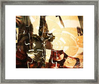 The Hem Of His Garment Framed Print by Fania Simon