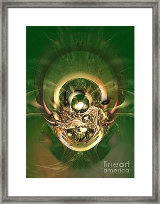 The Hidden Ancestor - Abstract Digital Art Framed Print