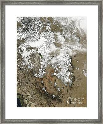 The High Peaks Of The Rocky Mountains Framed Print by Stocktrek Images