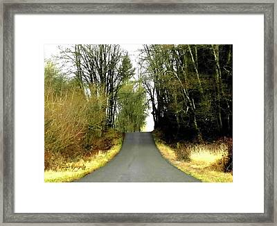 Framed Print featuring the photograph The High Road by Sadie Reneau