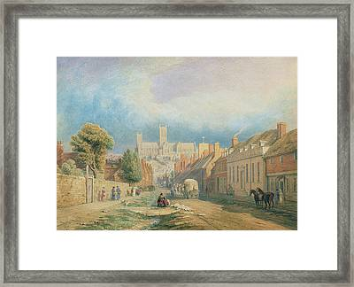 The High Street Lincoln  Framed Print