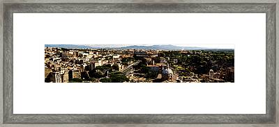 The Historic Centre Of Rome Framed Print by Fabrizio Troiani