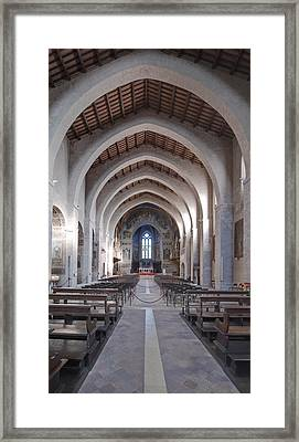 The Historic Duomo In Gubbio. 12th Framed Print