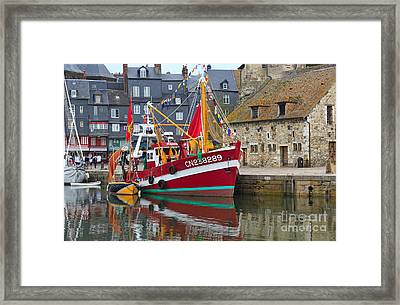 The Historic Fishing Village Of Honfleur Framed Print by Louise Heusinkveld