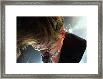 The Hives' Howlin' Pelle Almqvist Framed Print by Jesse Seilhan