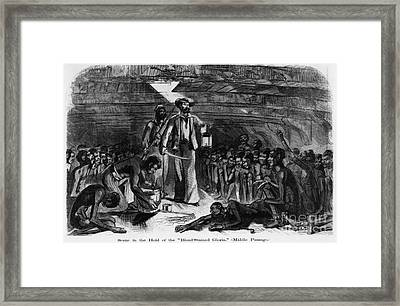 The Hold Of The Blood-stained Gloria Framed Print by Photo Researchers