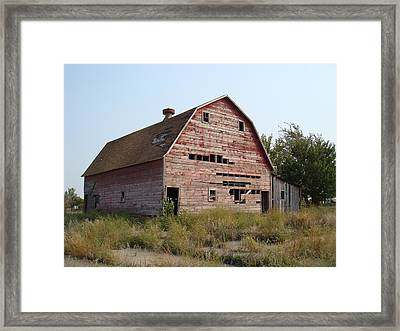 Framed Print featuring the photograph The Hole Barn by Bonfire Photography