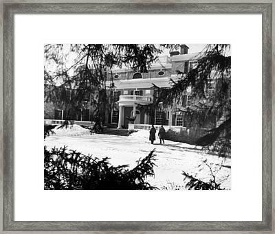 The Home Of President Franklin D Framed Print by Everett