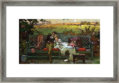 The Honeymoon Framed Print by Marcus Stone