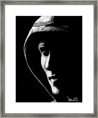 The Hooded Figure Framed Print by Kayleigh Semeniuk