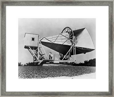 The Horn Reflector Antenna At Bell Framed Print by Everett