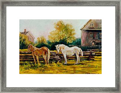 The Horse Ranch Eastern Townships Quebec Framed Print by Carole Spandau