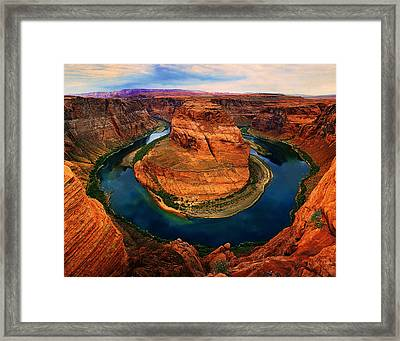 The Horseshoe Bend Framed Print by Daniel Chui