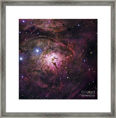 The Hourglass Nebula Framed Print