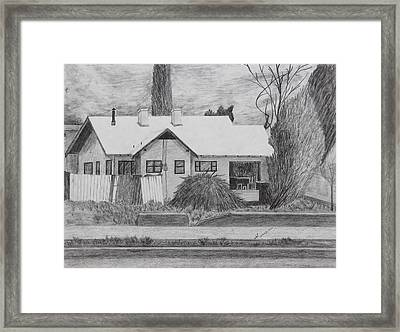 The House Across Framed Print by Kume Bryant