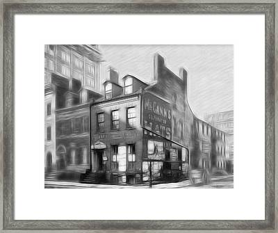 The House At The Corner Framed Print