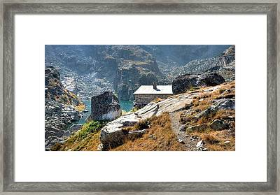 The House At The Lake Framed Print by Martin Marinov