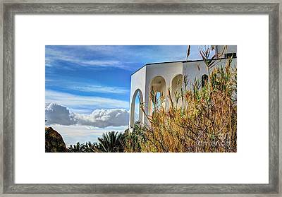 The House In The Clouds 2 Framed Print by Elena Mussi