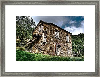The House In The Woods Framed Print by Elena Mussi