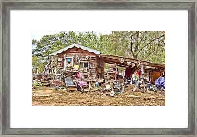 The House Of Used Goods Framed Print by Douglas Barnard