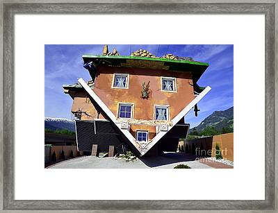 The House Upside Down Framed Print