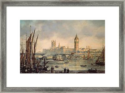 The Houses Of Parliament And Westminster Bridge Framed Print by Richard Willis