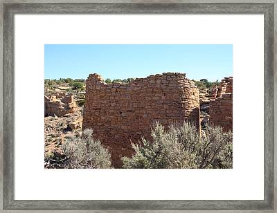 The Hovenweep Twin Towers Framed Print by Cynthia Cox Cottam
