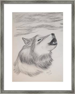 The Howler Framed Print by Maria Urso