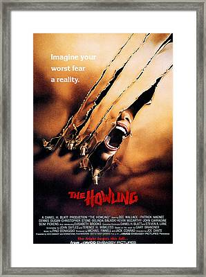 The Howling, Poster, 1981 Framed Print by Everett