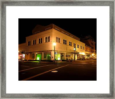 The Hub In Coos Bay Oregon Framed Print by Gary Rifkin