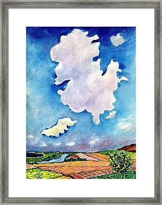 The Huge Cloud Framed Print