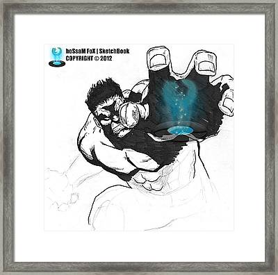The Hulk 2 Framed Print by Hossam Fox