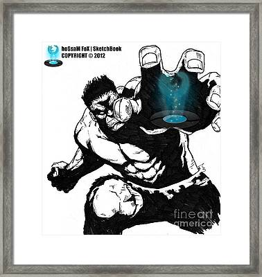 The Hulk Framed Print by Hossam Fox
