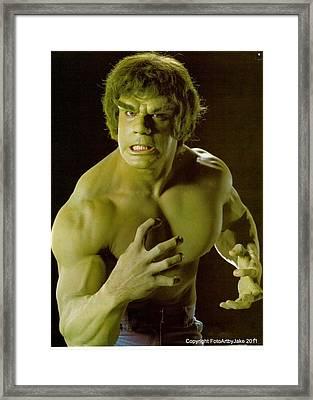 The Hulk  Framed Print by Jake Hartz