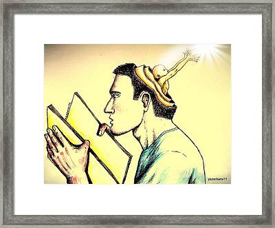The Human Symbolic Communication Framed Print by Paulo Zerbato