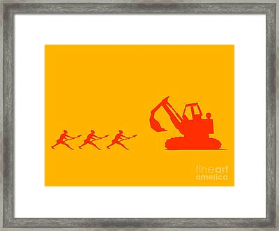 The Hunters Framed Print by Pixel Chimp
